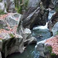 Sculptured Rocks and waterfalls in Groton, New Hampshire