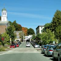 Streets of Peterborough in New Hampshire