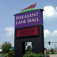 Tall Pheasant Lane Mall sign in Nashua, New Hampshire
