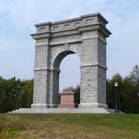 Tilton Memorial Arch in Northfield, New Hampshire