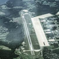 Aerial View of Pease Air National Guard Base near Portsmouth, New Hampshire