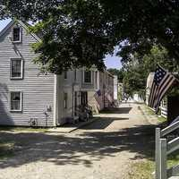 Jefferson Street at the Strawbery Banke Museum in Portsmouth, New Hampshire