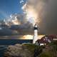 Lighthouse sky and landscape in Portsmouth, New Hampshire