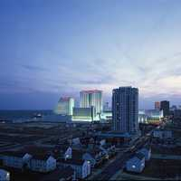 Skyline and Cityscape of Atlantic City, New Jersey