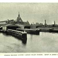 Ferry docks at the Communipaw Terminal in Liberty State Park in Jersey City, New Jersey