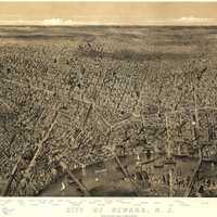 Cityscape of Newark, New Jersey in 1874