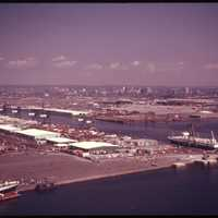 Port of Newark, New Jersey in 1974