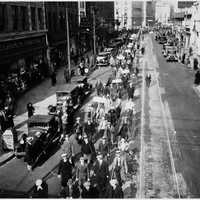 Marchers in Camden, New Jersey demanding jobs during the Great Depression