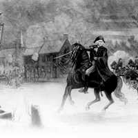George Washington at the Battle of Trenton, New Jersey