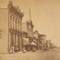 Downtown Albuquerque in 1880 in New Mexico