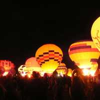 Hot Air Balloon Glow in Albuquerque, New Mexico