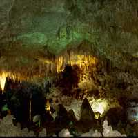 Stalactite hanging from the ceiling at Carlsbad Caverns National Park, New Mexico