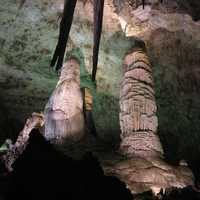 Stalagmites in Carlsbad Caverns National Park, New Mexico