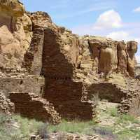 Chaco Canyon landscape in New Mexico