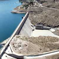 Elephant Butte Dam and Landscape in New Mexico