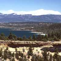 Heron Lake scenic landscape in New Mexico