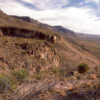 Landscape of the Sacramento Mountains in New Mexico