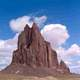 Shiprock Mountain landscape in New Mexico