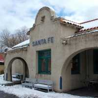 Downtown Santa Fe train station, New Mexico