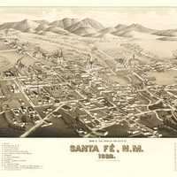 Santa Fe During the Railroad 1882, New Mexico