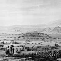Illustration of Santa Fe, New Mexico 1846