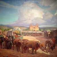 Santa Fe Plaza in 1850 in New Mexico