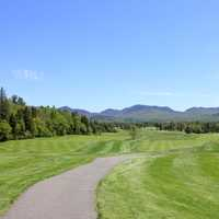 Golf Course View in the Adirondack Mountains, New York
