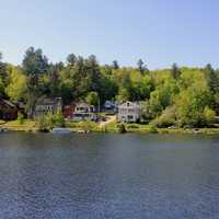 Saranac Lake in the Adirondack Mountains, New York