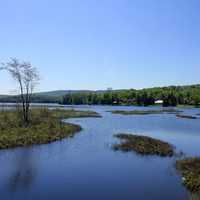 Tupper Lake in Adirondack Mountains, New York