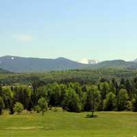 Grand view from the Golf Course in Adirondack Mountains, New York