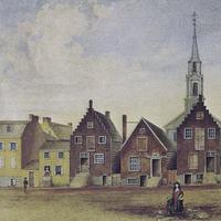 North Pearl Street from Maiden Lane North in 1805 in Albany, New York