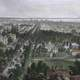Bird's-eye view of Buffalo in 1873 in New York