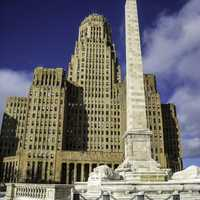 Buffalo City Hall and McKinley Monument in New York