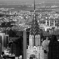 Black and White Cityscape of New York City