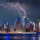 Lightning Storm over New York City