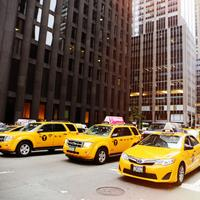 Yellow Cabs on the streets of New York City