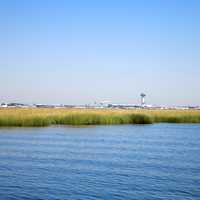 Jamaica Bay landscape and JFK Airport