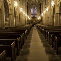 Interior of the Duke Chapel in Durham, North Carolina