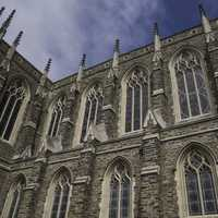 Sides of the Duke Chapel in Durham, North Carolina