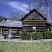 Log Cabin in an old settlement in Great Smoky Mountains National Park, North Carolina