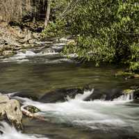 Rapids and river scenery in Great Smoky Mountains National Park, North Carolina