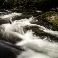 Rushing water of the River at Great Smoky Mountains National Park, North Carolina