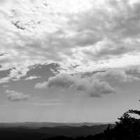Black and White Photo of Pisgah National Forest