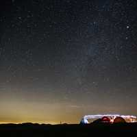 Camping under the stars at Max Patch, North Carolina