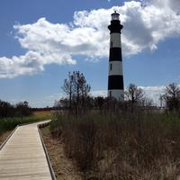 Lighthouse on Bodie Island in North Carolina