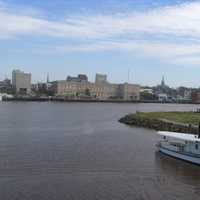 River, skyline, and landscape in Wilmington, North Carolina