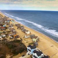 Shoreline of Hatteras, North Carolina from the air