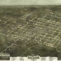 Looking at Raleigh, North Carolina, 1872