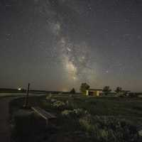 The Milky Way Galaxy in the sky at Painted Canyon, North Dakota