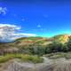 Clear skies over the mounds at Theodore Roosevelt National Park, North Dakota